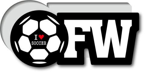 GSJ-011/サッカーポジションステッカー/フォワード/FW/サッカープレイヤー/スタメン