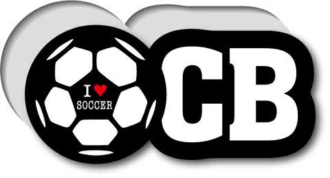 GSJ-014/サッカーポジションステッカー/センターバック/CB/サッカープレイヤー/スタメン