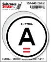 楽天ゼネラルステッカー国際識別記号ステッカー/IDP-04S/オーストリア(AUSTRIA) スーツケースステッカー 機材ケースにも!
