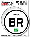 楽天ゼネラルステッカー国際識別記号ステッカー/IDP-05S/ブラジル(BRAZIL) スーツケースステッカー 機材ケースにも!