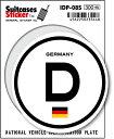楽天ゼネラルステッカー国際識別記号ステッカー/IDP-08S/ドイツ(GERMANY) スーツケースステッカー 機材ケースにも!
