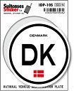 楽天ゼネラルステッカー国際識別記号ステッカー/IDP-10S/デンマーク(DENMARK) スーツケースステッカー 機材ケースにも!