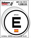 楽天ゼネラルステッカー国際識別記号ステッカー/IDP-11S/スペイン(SPAIN) スーツケースステッカー 機材ケースにも!