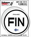 楽天ゼネラルステッカー国際識別記号ステッカー/IDP-12S/フィンランド(FINLAND) スーツケースステッカー 機材ケースにも!
