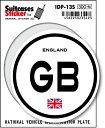 楽天ゼネラルステッカー国際識別記号ステッカー/IDP-13S/イギリス(ENGLAND) スーツケースステッカー 機材ケースにも!