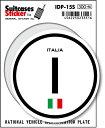 楽天ゼネラルステッカー国際識別記号ステッカー/IDP-15S/イタリア(ITALY) スーツケースステッカー 機材ケースにも!