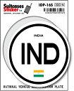 楽天ゼネラルステッカー国際識別記号ステッカー/IDP-16S/インド(INDIA) スーツケースステッカー 機材ケースにも!