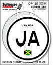 楽天ゼネラルステッカー国際識別記号ステッカー/IDP-18S/ジャマイカ(JAMAICA) スーツケースステッカー 機材ケースにも!