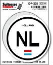 楽天ゼネラルステッカー国際識別記号ステッカー/IDP-20S/オランダ(HOLLAND) スーツケースステッカー 機材ケースにも!