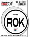 楽天ゼネラルステッカー国際識別記号ステッカー/IDP-21S/韓国(KOREA) スーツケースステッカー 機材ケースにも!