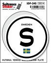 楽天ゼネラルステッカー国際識別記号ステッカー/IDP-24S/スウェーデン(SWEDEN) スーツケースステッカー 機材ケースにも!