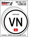 国際識別記号ステッカー IDP26S ベトナム VIETNAM スーツケースステッカー 機材ケースにも!