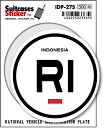 楽天ゼネラルステッカー国際識別記号ステッカー/IDP-27S/インドネシア(INDONESIA) スーツケースステッカー 機材ケースにも!