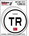 楽天ゼネラルステッカー国際識別記号ステッカー/IDP-28S/トルコ(TURKEY) スーツケースステッカー 機材ケースにも!