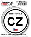 楽天ゼネラルステッカー国際識別記号ステッカー/IDP-31S/チェコ(CZECH REPUBLIC) スーツケースステッカー 機材ケースにも!