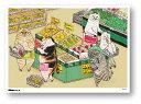 世にも不思議な猫世界 ミニポスター B5サイズ スーパーニャンダフル POS134 KORIRI ステッカー グッズ