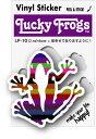 LF-10/LUCKY FROGSステッカー/D.rainbow/カエル ラッキーアイテムグッズ 願