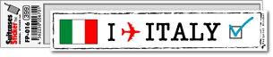 フットプリント ステッカー イタリア スーツケース