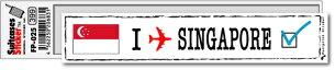 フットプリント ステッカー シンガポール スーツケース