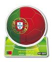 NF-009/ポルトガル/サッカーボールステッカー/ ワールドカップ W杯 スポーツ観戦に!