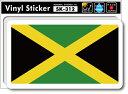 ショッピングステッカー SK312 国旗ステッカー ジャマイカ JAMAICA