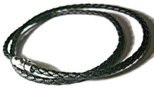 レザーチョーカー ネックレス ブラック マグネット