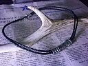 2連編込み黒レザー大きめローラーチューブネックレス クロス ネックレス メンズ02P23Apr16