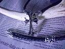 レザークロスローラーネックレス レザーチョーカー レザーブレイド ボロティップス ボロチップ