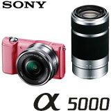 ソニー ミラーレス一眼レフカメラ α5000 ILCE-5000Y ダブルズームレンズキット [ピンク]【smtb-k】【ky】