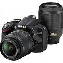 送料無料■ニコン デジタル一眼レフカメラ D3200 200mmダブルズームキット ブラック【smtb-k】【ky】