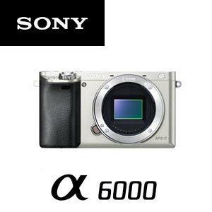 ソニー ミラーレス一眼レフカメラ α6000 ILCE-6000 ボディ [シルバー]【smtb-k】【ky】【KK9N0D18P】