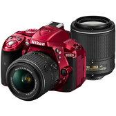ニコン デジタル一眼レフカメラ D5300 ダブルズームキット2 [レッド]【smtb-k】【ky】【KK9N0D18P】