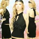 ◆あす楽対応◆ブラックが誇るゴールド金具の2ピース★セクシャルなフィット感★トップス・スカート分けて使える【キャバドレス/ミニドレス..