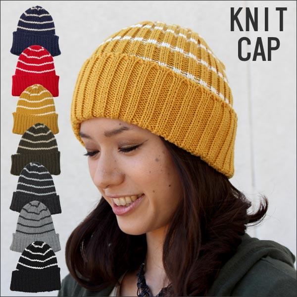 ニットキャップ ボーダーデザイン ワッチ 帽子 ...の商品画像