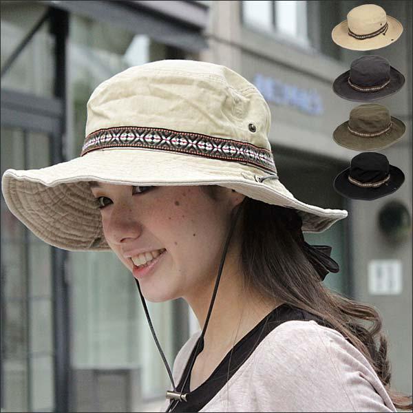 ドローコード付き サファリハット  帽子 ユニセックス 紫外線 UV カット メンズ レデ…...:auc-global-ma:10001908