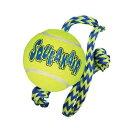 KONG 犬用 おもちゃ エアードッグ ロープ付きテニスボール Mサイズ5000円以上送料無料