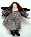 【訳あり】【在庫限り】カントリードール 〜 アニー 〜 ハンドメイド レトロカントリー 古き良きアメリカ時代のかわいいお人形