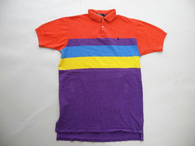 USA製■POLO RALPHLAURENラルフローレン鹿の子ポロシャツ(M)