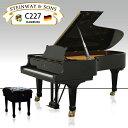 新品グランドピアノ STEINWAY&SONS(スタインウェイ&サンズ)C-227【新品】【新品ピアノ】【C227】