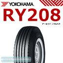 ヨコハマ RY208 チューブタイプ 600R15 8PR◆【送料無料】バン/トラック用サマ−タイヤ