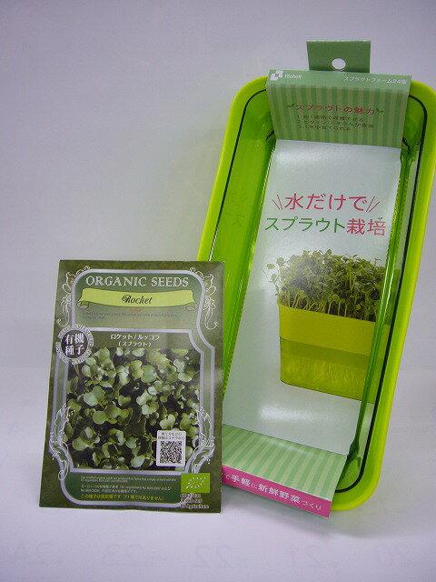 ② 有機種子スプラウト栽培セット