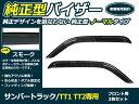 【送料無料】サイドドアバイザー サンバートラック TT1 TT2 スモーク スバル H10.8〜 ブラック 黒 【サイドバイザー 雨よけ 雨除け 外装 オプション 純正同型 フロント リア 純正タイプ ワイドタイプ フルセット 単品 多種類取扱有ります】