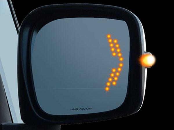 LED ウィングミラー 50系 エスティマ アエラス ACR[GSR]50/55 H18.1〜 ドアミラー トヨタ 【サイドミラー サイドドアミラー LEDライト 矢印 方向指示器 ウインカー ブルーミラー ブルーレンズ シルクブレイズ SilkBlaze】