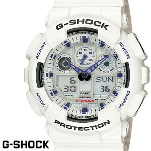 G-SHOCK 白 腕時計 メンズ レディース GA-100A-7A ジーショック ホワイト CASIO G−SHOCK gshock g−shock