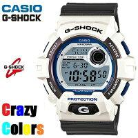 【CASIO/G-SHOCK】【CrazyClors/クレイジーカラー】【送料無料/あす楽対応】【ホワイトxグレー】カシオGショックジーショックメンズ腕時計G-8900SC-7G8900SC-7