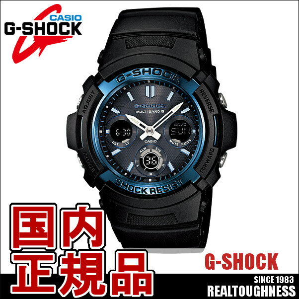 CASIO G-SHOCK ジーショック メンズ 腕時計 タフソーラー AWG-M100A-1AJF ペアウォッチ SKYCOCKPIT スタンダードモデル AWG-100 ソーラー電波 電波ソーラー ブラック ブルー:GROSS【国内正規品】G-SHOCK