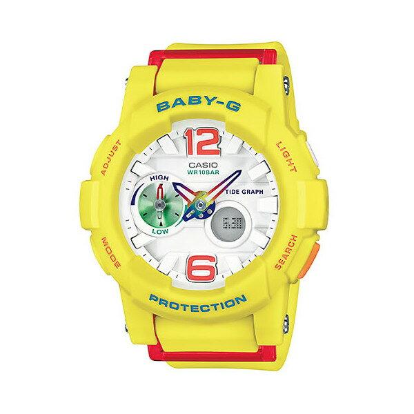 CASIO/BABY-G/カシオ ベビーG G-LIDE Gライド クオーツ 腕時計 うでどけい レディース LADIE'S ホワイト イエロー BGA-180-9BJF 【国内正規品】ベビーG?厚い