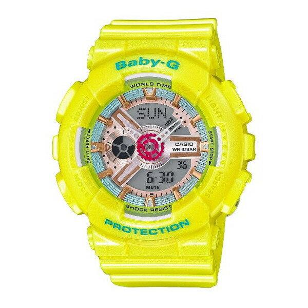 CASIO/BABY-G/カシオ ベビーG 腕時計 うでどけい レディース LADIE'S レディース腕時計 イエロー パステルカラー BA-110CA-9AJF 【国内正規品】ベビーG