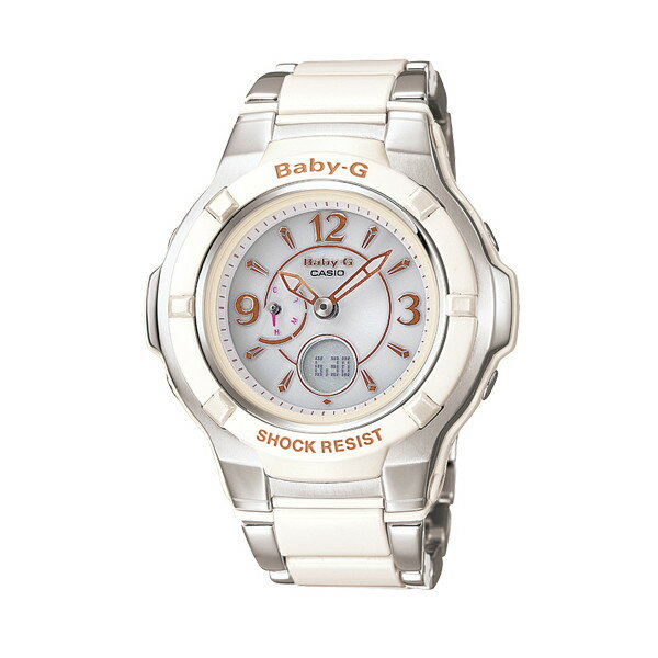 CASIO/BABY-G/カシオ ベビーG コンポジットライン 電波ソーラー 腕時計 うでどけい レディース LADIE'S ホワイト シルバー BGA-1200C-7BJF 【国内正規品】ベビーG