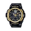 CASIO/BABY-G/カシオ ベビーG 電波ソーラー ソーラー電波 腕時計 うでどけい レディース LADIE'S ブラック ゴールド BGA-2100-1BJF